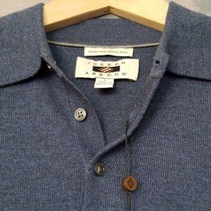 c5467e94c Joseph Abboud Sweaters - Joseph Abboud Slate Polo Collar Merino Wool Sweate